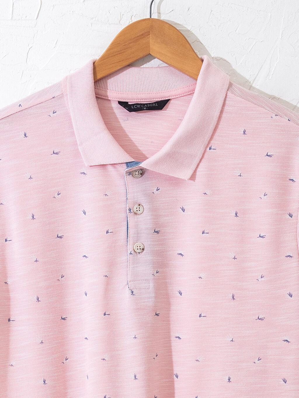 Erkek Aile Koleksiyonu Polo Yaka Desenli Tişört