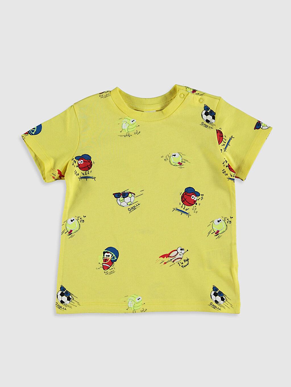Turuncu Erkek Bebek Baskılı Pamuklu Tişört 0SE221Z1 LC Waikiki