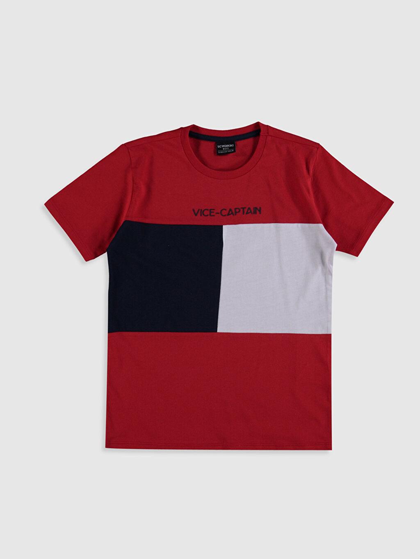 Kırmızı Erkek Çocuk Pamuklu Tişört 0SE238Z4 LC Waikiki