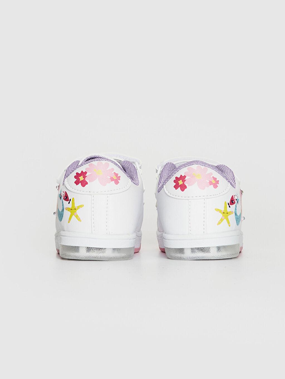 LC Waikiki Beyaz Kız Bebek İşıklı Sneaker