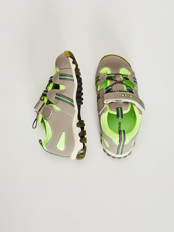 %0 Diğer malzeme (pvc) %0 Tekstil malzemeleri ( %100 polyester) Sandalet Cırt Cırt Işıksız Erkek Çocuk Cırt Cırtlı Sandalet