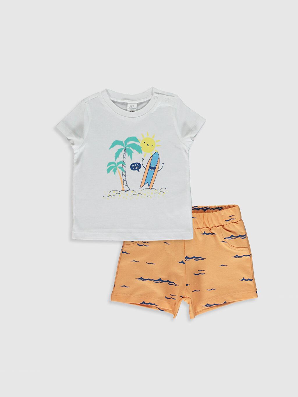 Beyaz Erkek Bebek Takım 2'Li 0SE404Z1 LC Waikiki