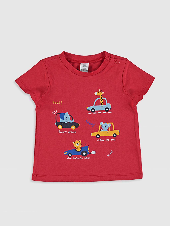 Erkek Bebek Erkek Bebek Baskılı Pamuklu Tişört 2'li