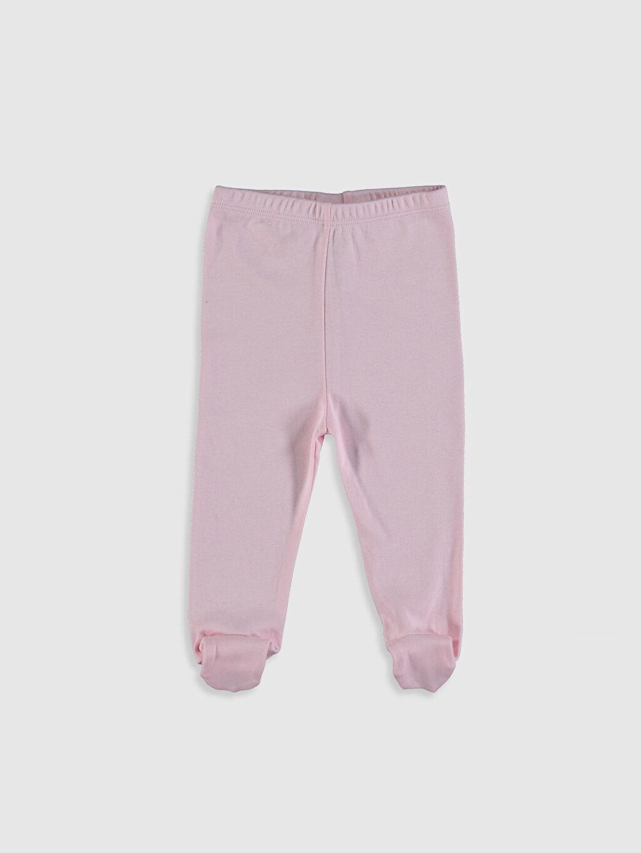 Pembe Kız Bebek Pamuklu Patikli Pantolon 0SE868Z1 LC Waikiki