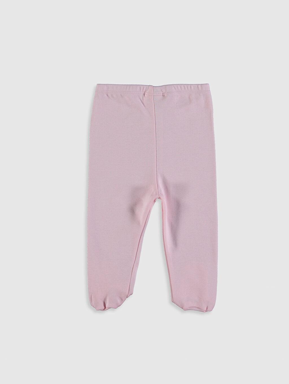 %100 Pamuk Pantolon Kız Bebek Pamuklu Patikli Pantolon