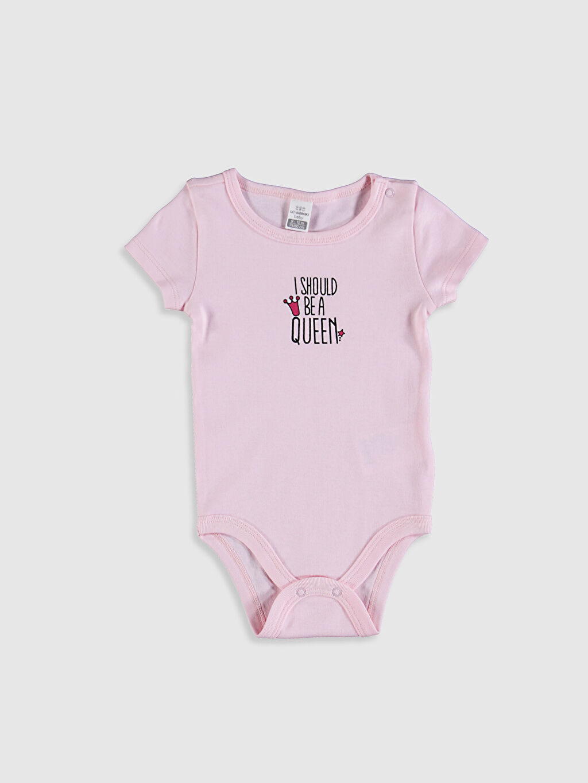 Pembe Kız Bebek Baskılı Çıtçıtlı Body 0SE887Z1 LC Waikiki