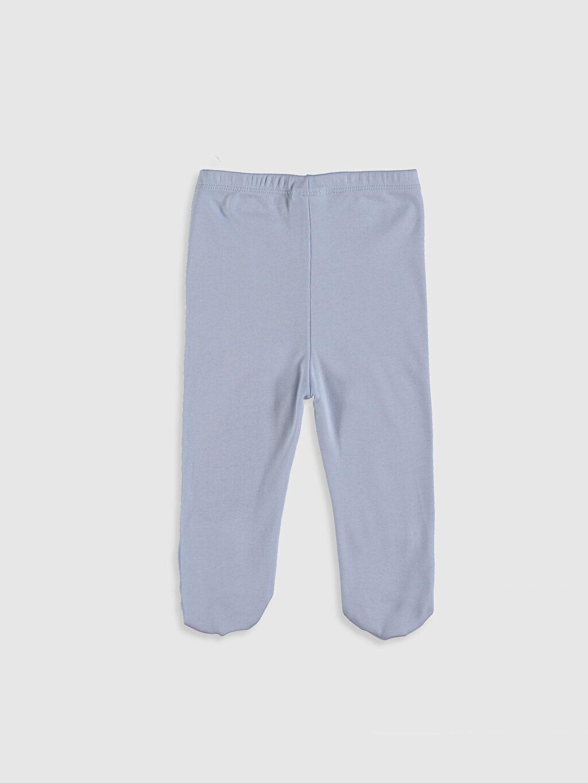 %100 Pamuk Düz Pantolon Erkek Bebek Pantolon 2'Li
