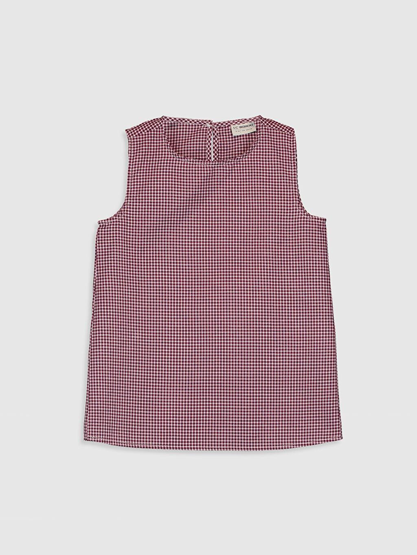 Kırmızı Kız Çocuk Desenli Bluz 0SF292Z4 LC Waikiki