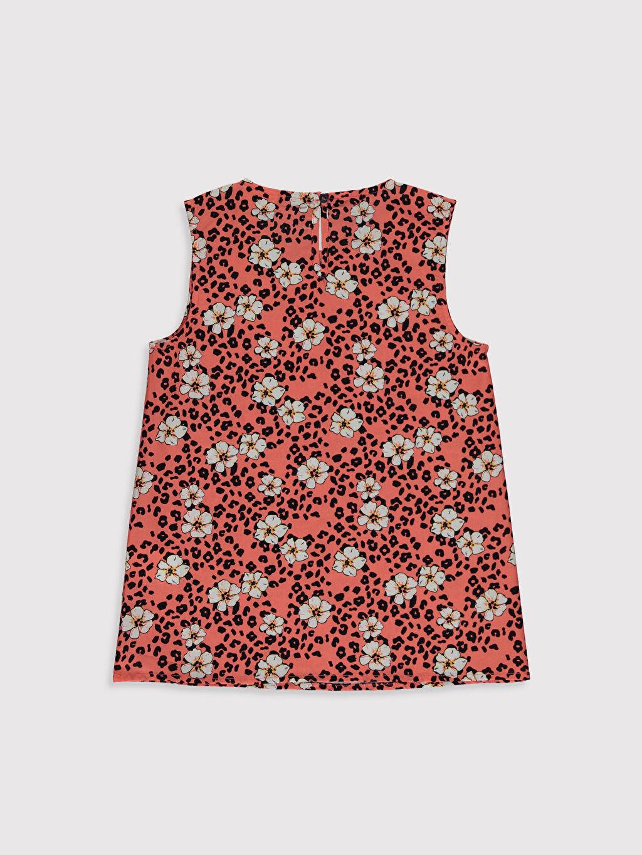 %100 Pamuk Kolsuz Standart Baskılı Gömlek Kız Çocuk Desenli Bluz