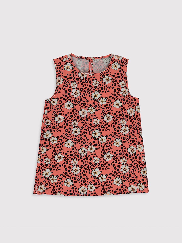 Turuncu Kız Çocuk Desenli Bluz 0SF292Z4 LC Waikiki