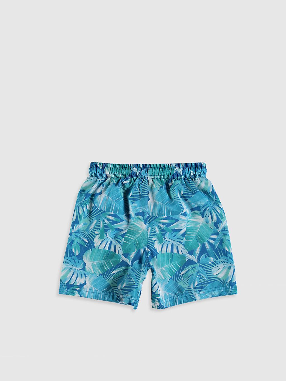 %100 Polyester %100 Polyester Standart Midi Yüzme Şort Erkek Çocuk Baskılı Deniz Şortu