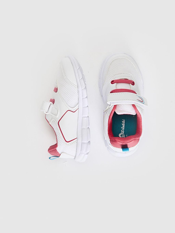 %0 Tekstil malzemeleri (%100 poliester) Polyester Astar Bağcık Işıksız Sneaker Kız Bebek Spor Ayakkabı
