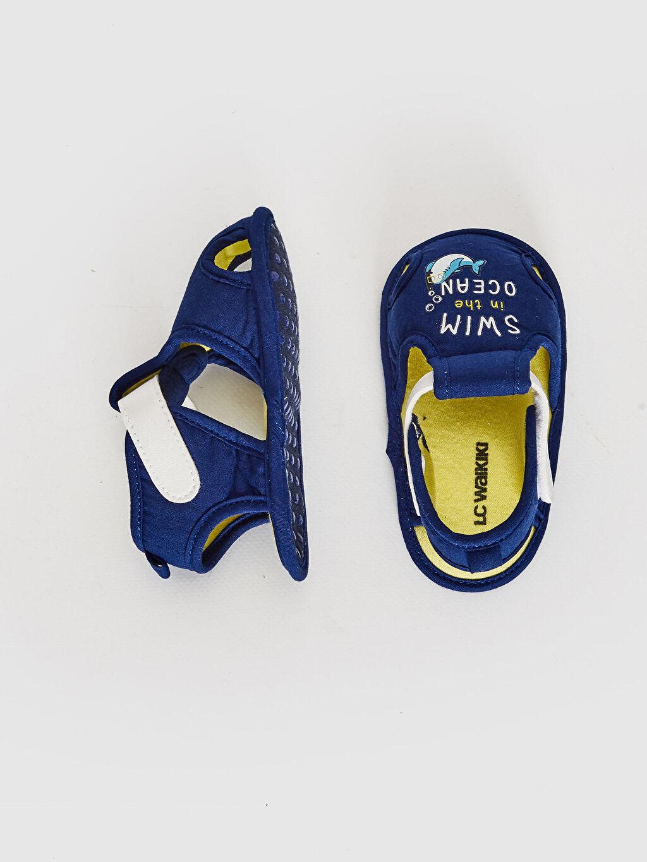 %0 Tekstil malzemeleri (%100 pamuk) Cırt Cırt Işıksız Yürümeyen Erkek Bebek Yürüme Öncesi Sandalet