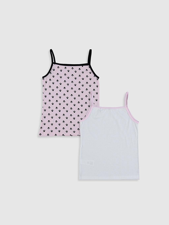 %100 Pamuk İç Giyim Atlet Askılı Standart U Yaka Süprem Kız Çocuk Pamuklu Atlet 2'li