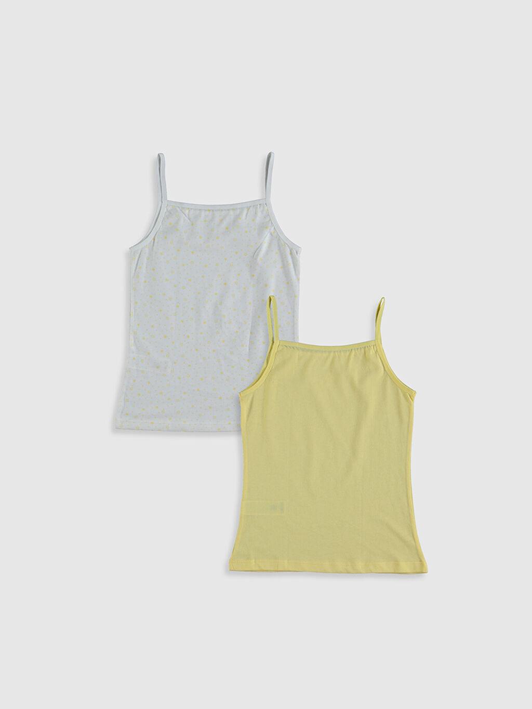 %100 Pamuk Askılı İç Giyim Atlet Standart U Yaka Süprem Kız Çocuk Pamuklu Atlet 2'li