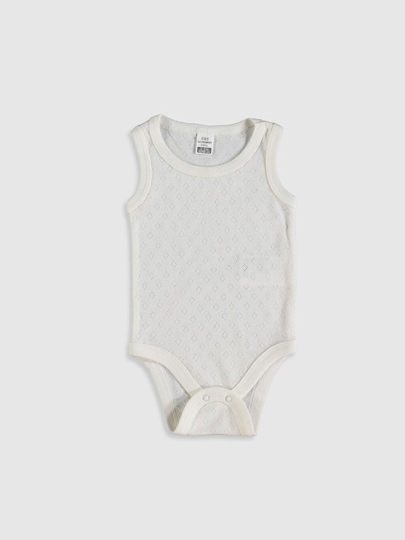 Ekru Kız Bebek Çıtçıtlı Body 0SP214Z1 LC Waikiki