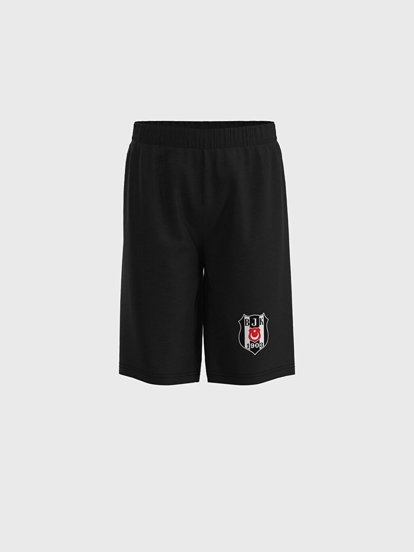0SP489Z4 Erkek Çocuk Beşiktaş Baskılı Pamuklu Pijama Takımı