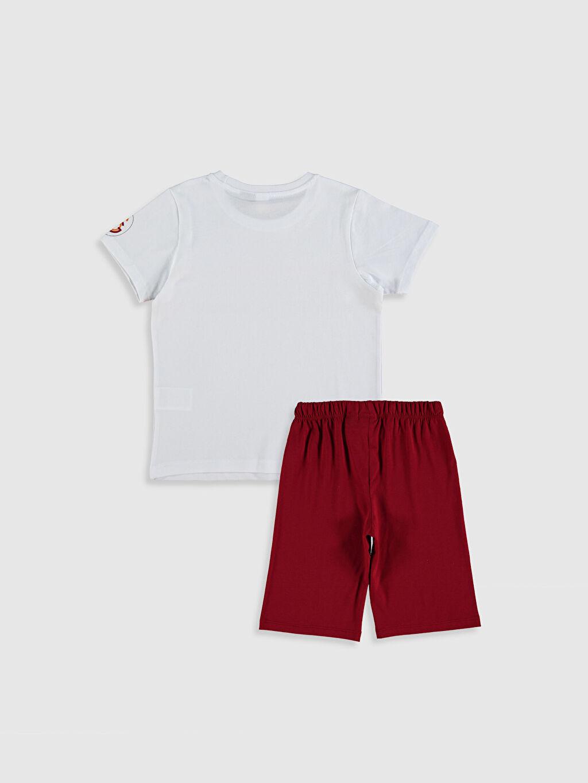 %100 Pamuk %100 Pamuk Pijama Takım Günlük Süprem Erkek Çocuk Galatasaray Amblemli Pamuklu Pijama Takımı