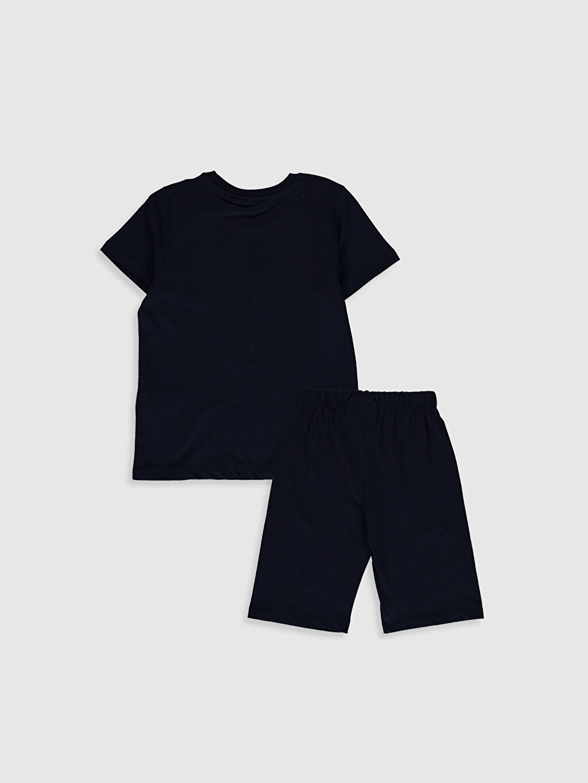 %100 Pamuk %100 Pamuk Fenerbahçe Baskılı Pijama Takım Bisiklet Yaka Kısa Kol Erkek Çocuk Fenerbahçe Amblemli Ve Baskılı Pijama Takımı