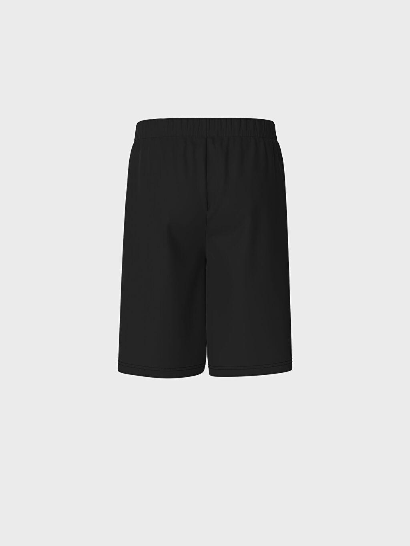 LC Waikiki Siyah Erkek Çocuk Beşiktaş Baskılı Pamuklu Pijama Takımı