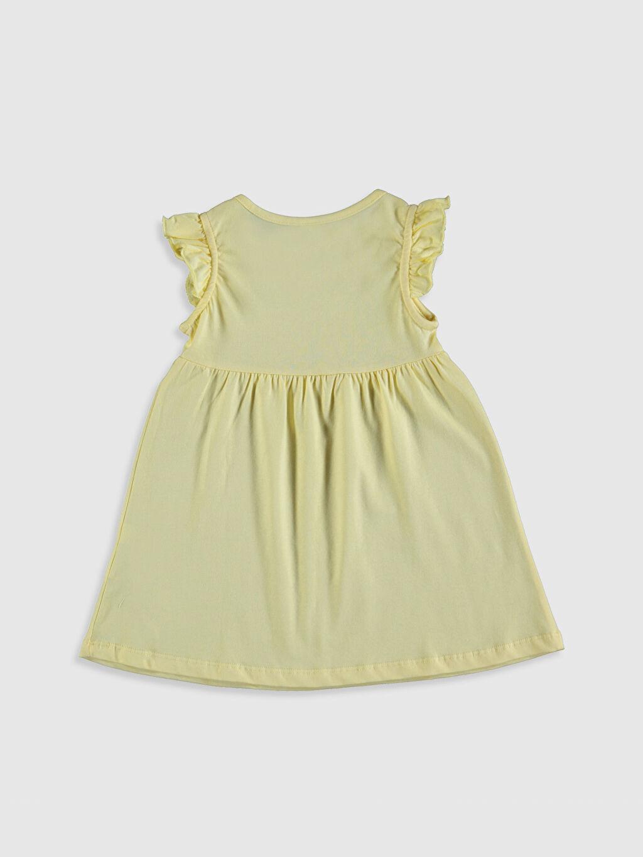 %100 Pamuk Süprem Elbise Smart Casual Standart Baskılı Kız Bebek Baskılı Pamuklu Elbise