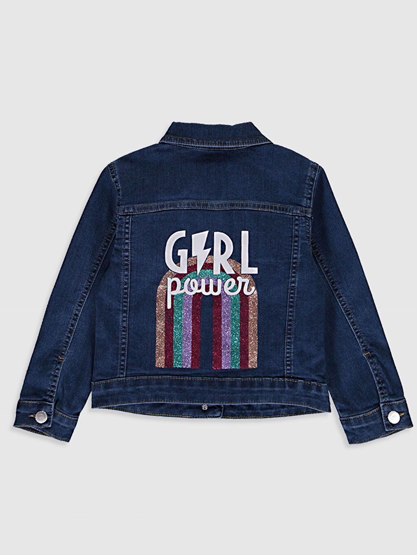 %81 Pamuk %17 Polyester %2 Elastan Jean Ceket Gömlek Yaka Orta Kalınlık Düz Kız Çocuk Jean Ceket
