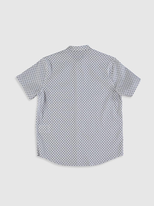 %65 Pamuk %31 Poliamid %4 Elastan %100 Pamuk Kısa Kol Gömlek Standart Baskılı Erkek Çocuk Baskılı Pamuklu Gömlek