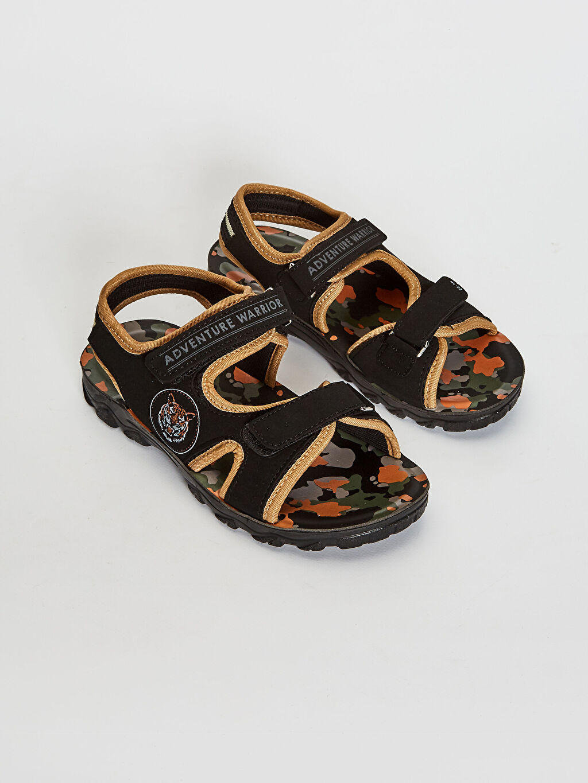 Siyah Erkek Çocuk Cırt Cırtlı Sandalet 0SQ170Z4 LC Waikiki