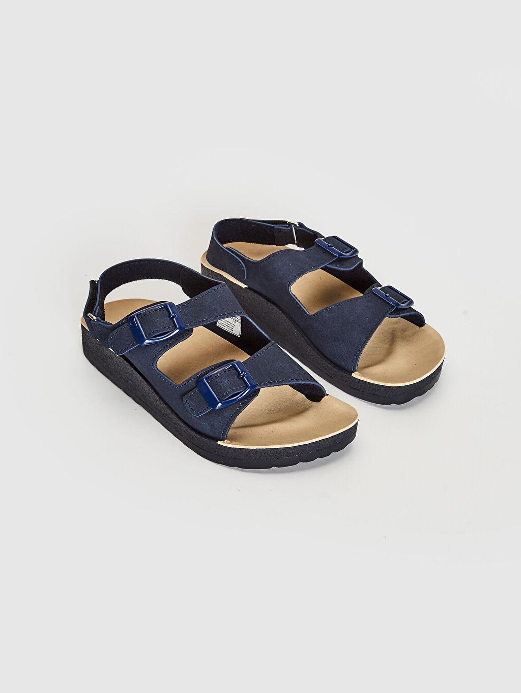 Diğer malzeme (pvc) Cırt Cırt Sandalet Işıksız Erkek Çocuk Toka Detaylı Sandalet