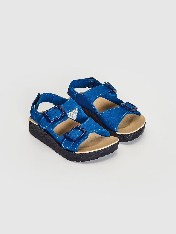 Diğer malzeme (pvc) Cırt Cırt Işıksız Sandalet Erkek Çocuk Toka Detaylı Sandalet