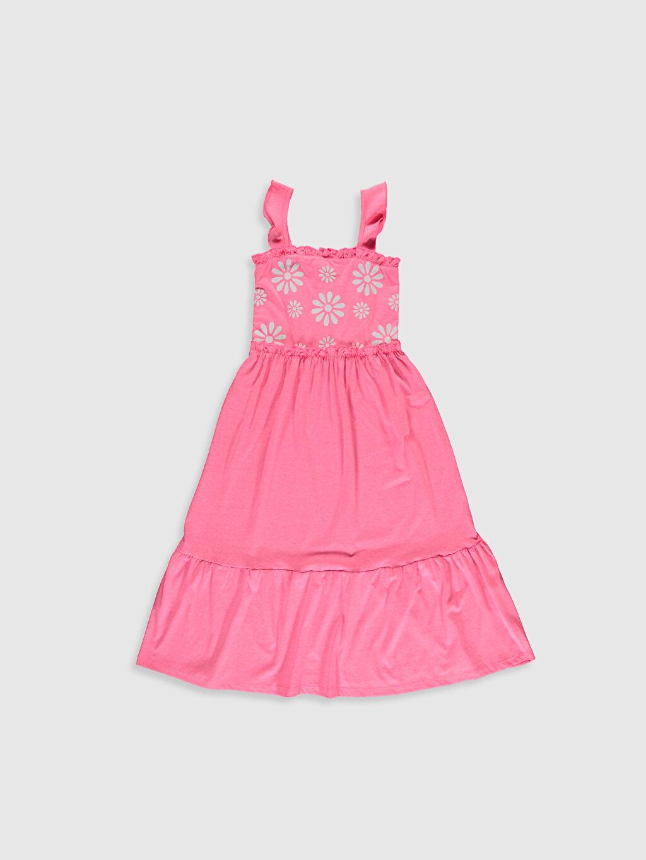 Pembe Kız Çocuk Çiçek Baskılı Elbise 0SQ635Z4 LC Waikiki