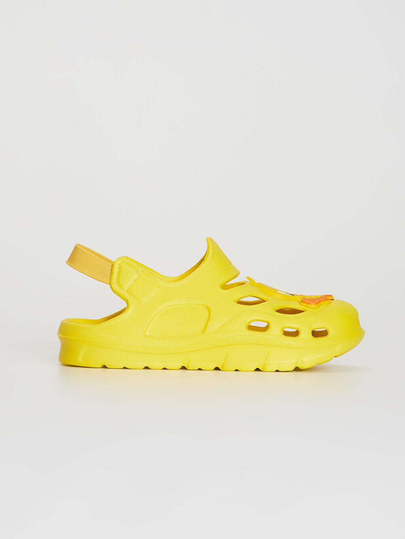 %0 Diğer malzeme (eva) Işıksız EVA Astar Sandalet Lastik Tweety Kız Bebek Tweety Lisanslı Lastikli Plaj Ayakkabısı