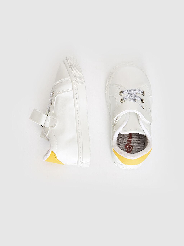 %0 Diğer malzeme (poliüretan) Bağcık ve Cırt Cırt Işıksız Polyester Astar Sneaker Kız Çocuk Unicorn Baskılı Cırt Cırtlı Sneaker