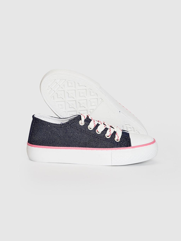 Kız Çocuk Kız Çocuk Bağcıklı Denim Sneaker
