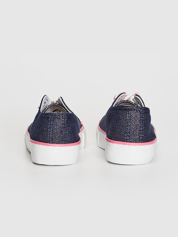 Kız Çocuk Bağcıklı Denim Sneaker