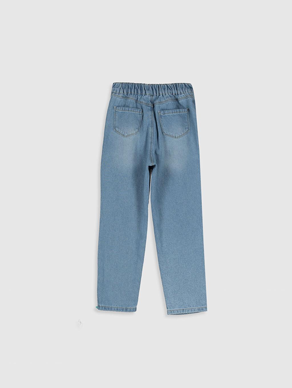 %100 Pamuk Aksesuarsız Normal Bel Astarsız Dar Jean Standart Düz Kız Çocuk Jean Pantolon