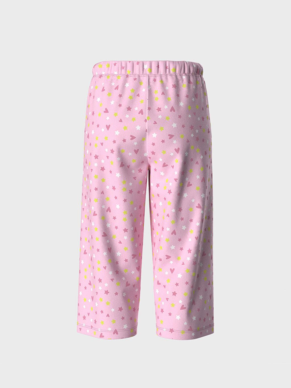 Ekru Kız Çocuk Baskılı Pamuklu Pijama Takımı