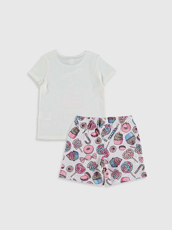 %100 Pamuk Standart Pijama Takım Kısa Kol Süprem Kız Çocuk Baskılı Pamuklu Pijama Takımı
