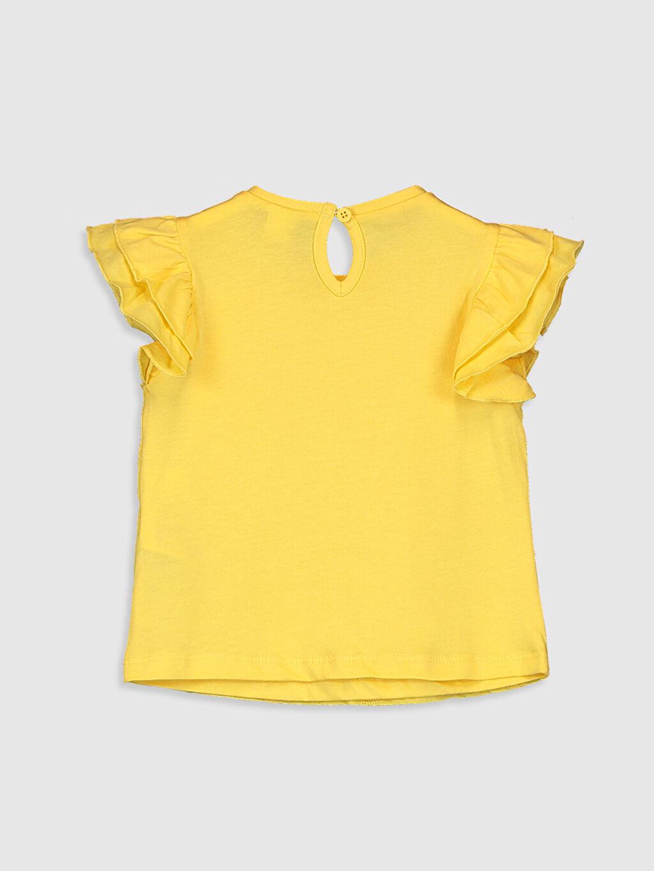 %100 Pamuk Bebe Yaka Baskılı Tişört Smart Casual Kısa Kol Süprem Kız Bebek Baskılı Pamuklu Tişört