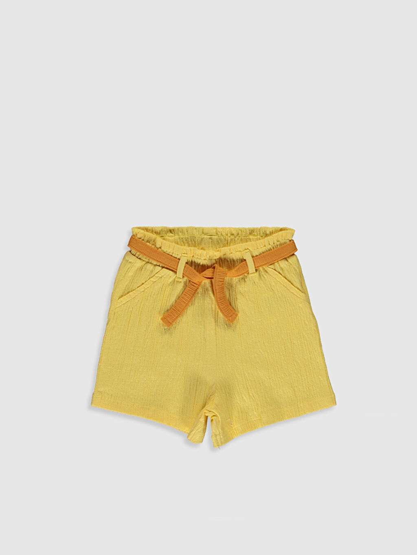 Sarı Kız Bebek Şort  0SQ952Z1 LC Waikiki