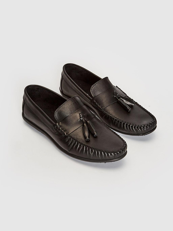 Siyah Erkek Hakiki Deri Loafer Ayakkabı 0SQ984Z8 LC Waikiki