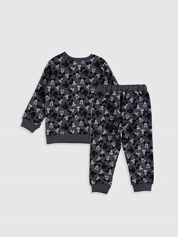 %60 Pamuk %40 Polyester %60 Pamuk %40 Polyester Takım Mickey Mouse Süprem Standart Baskılı Günlük Erkek Bebek Mickey Mouse Baskılı Takım 2'li