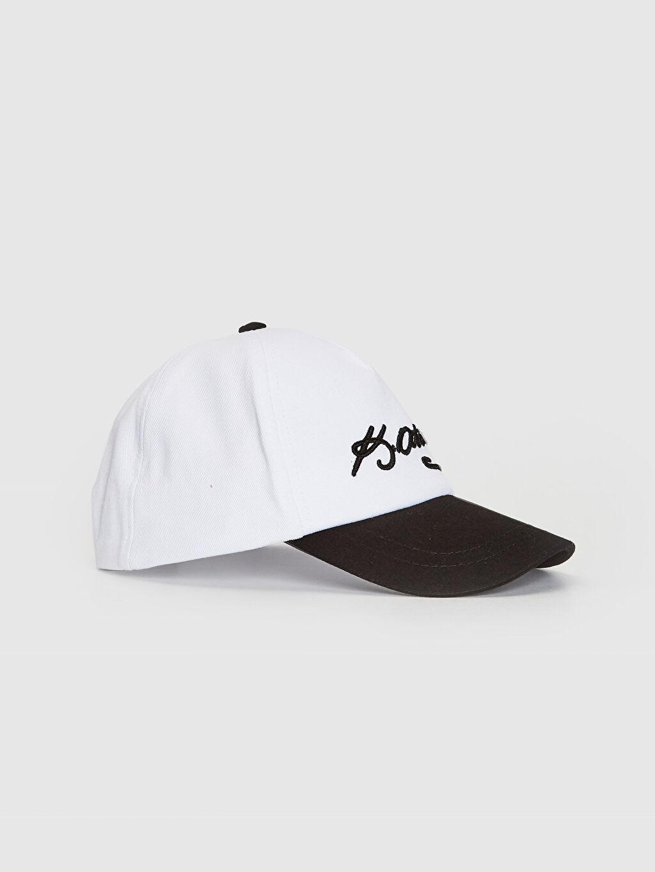 Beyaz Atatürk İmza Nakışlı Şapka 0SR307Z4 LC Waikiki