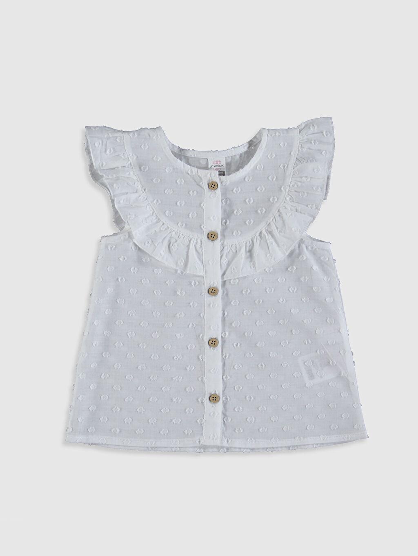 Ekru Kız Bebek Pamuklu Gömlek 0SR488Z1 LC Waikiki