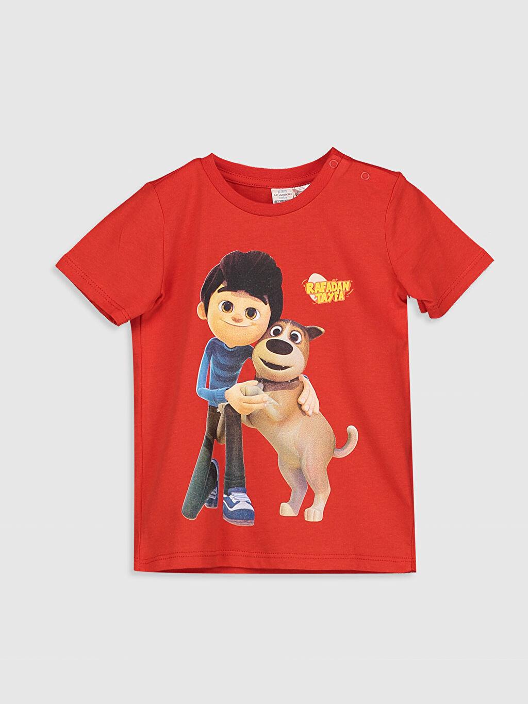 Kırmızı Erkek Bebek Rafadan Tayfa Baskılı Pamuklu Tişört 0SR496Z1 LC Waikiki
