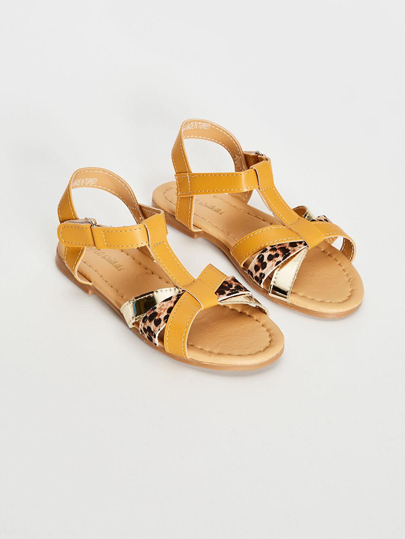Bej Kız Çocuk T Bant Şık Sandalet 0SR604Z4 LC Waikiki