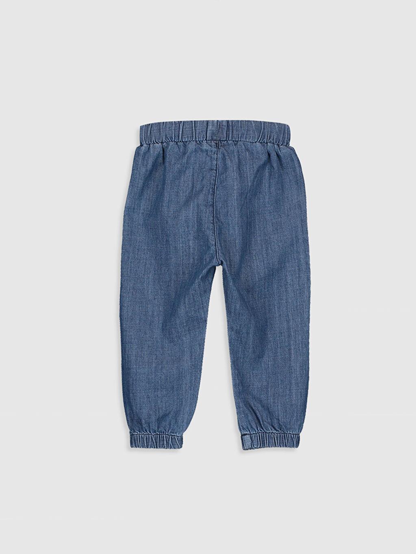 %100 Pamuk Standart Jean Kız Bebek Jean Pantolon