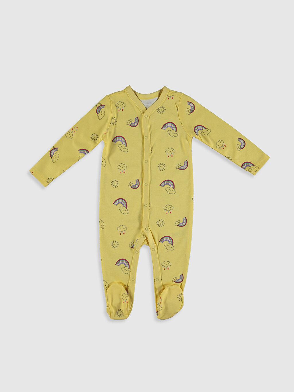 Sarı Kız Bebek Baskılı Patikli Tulum 0SR823Z1 LC Waikiki
