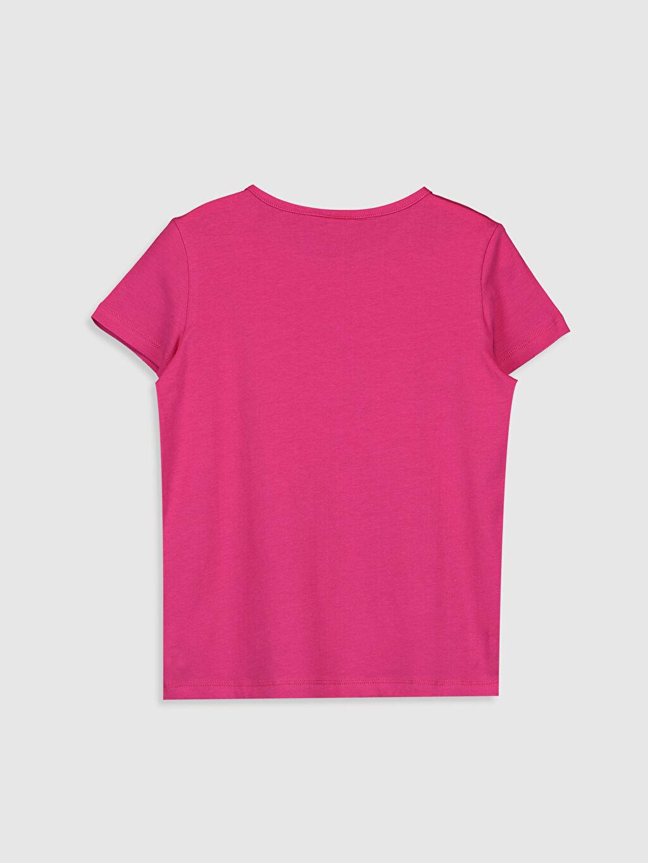 %96 Pamuk %4 Elastan Standart Baskılı Tişört Bisiklet Yaka Kısa Kol Kız Çocuk Baskılı Tişört