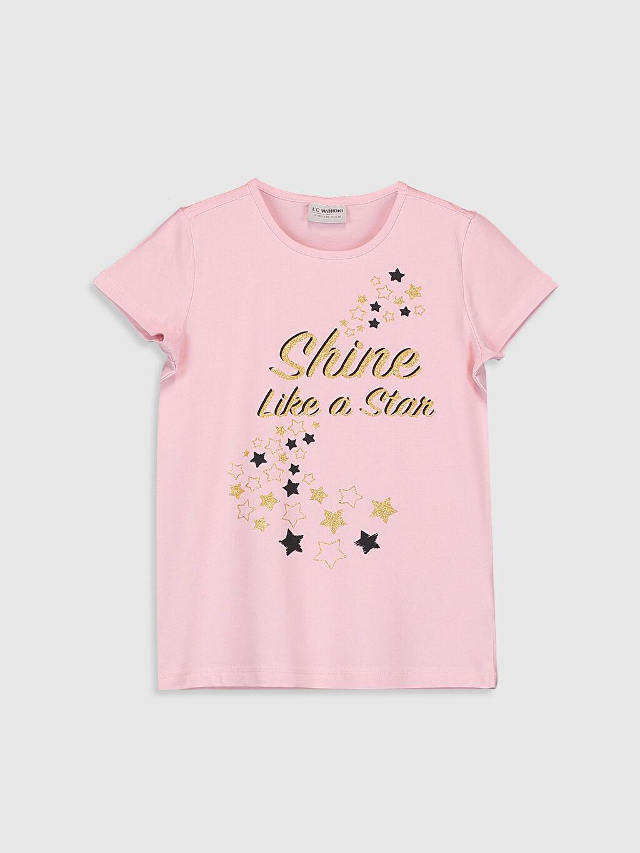 Pembe Kız Çocuk Baskılı Tişört 0SR825Z4 LC Waikiki